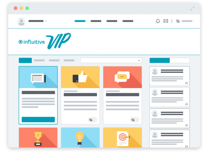 Influitive interface