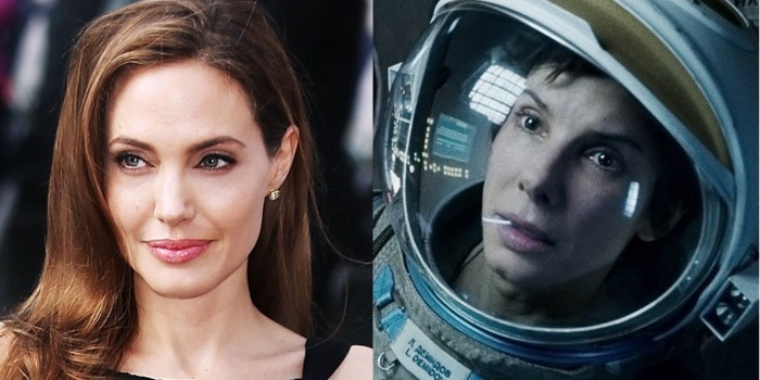 Angelina Jolio could have played the female lead in 'Gravity'.